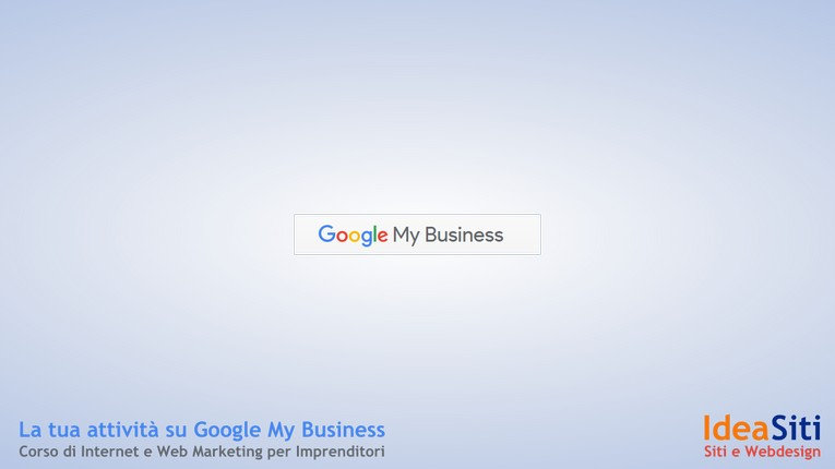 corso gratuito di Google My Business