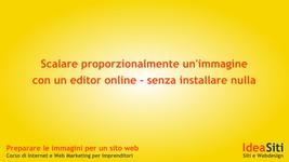 Scalare proporzionalmente un'immagine con l'editor online Pixlr.com