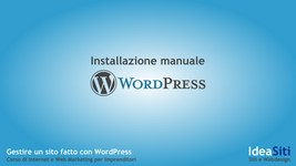 installazione manuale Wordpress