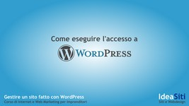 Come accedere al pannello di controllo di WordPress