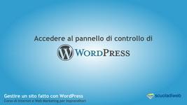 accedere a bacheca Wordpress