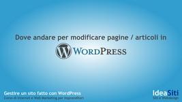 Come modificare pagine e articoli in WordPress