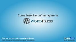 Come inserire un'immagine in un articolo o pagina in WordPress