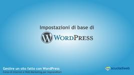 Impostazioni Base di WordPress