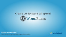 Creare un database Mysql dal cpanel Direct Admin per installare WordPress