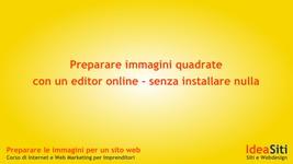 Preparare immagini quadrate con un editor online – senza installare nulla