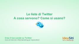 le liste di Twitter