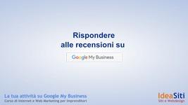 Come rispondere alle recensioni in Google My Business
