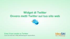 Widget di Twitter Ovvero metti Twitter sul tuo sito web