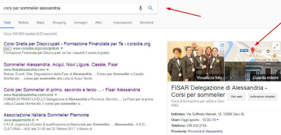 attività sulle mappe di Google
