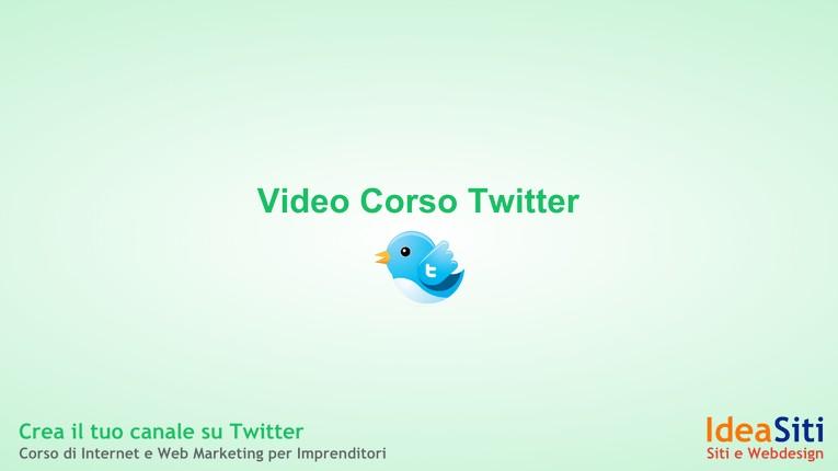 Twitter: corso base