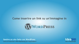 Come inserire un link ad un'immagine per ingrandirla in WordPress
