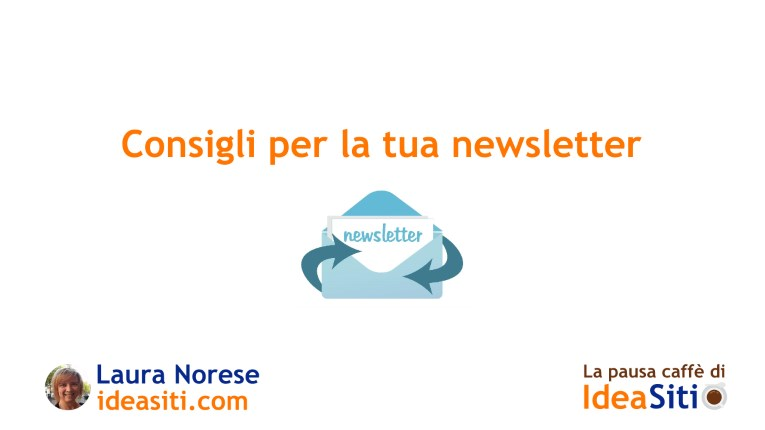 video consigli per la tua newsletter