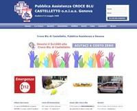 Sito per pubblica assistenza, Genova - croce blu Castelletto