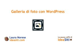 galleria di foto in WordPress
