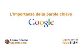 parole chiave in Google