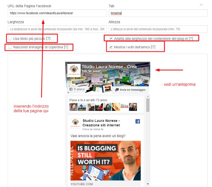 incorporare-facebook su un sito
