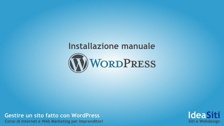 Come installare manualmente WordPress