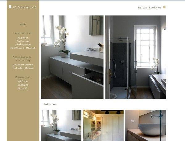 Creazione siti web professionali siti in wordpress for Architetto interior design