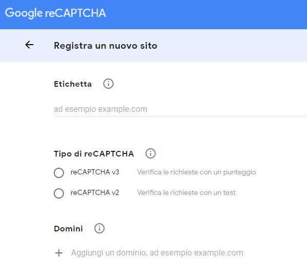 reCaptcha di Google