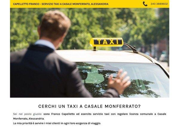sito per taxista